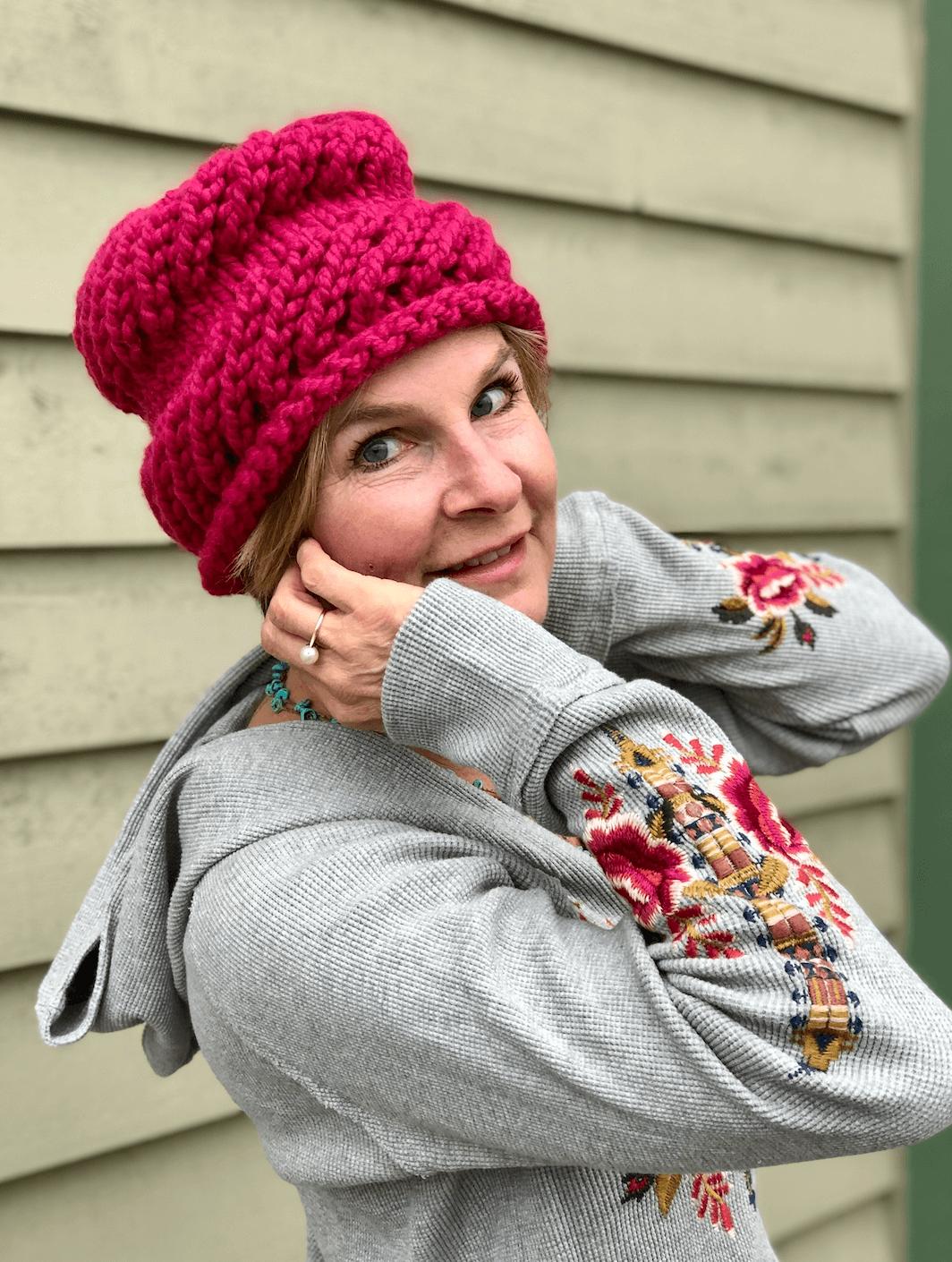 445df7a29 Hand Knit Hat by Mikki